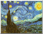 The Starry Night Vincent van Gogh Stretched Painting Repro Canvas Wall Art Print