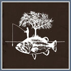 Fishing T SHIRT new Fisherman I'd be fly lure rod rather reel hat funny cool TEE