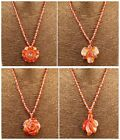"""F1730 Handmade Red agate flower pendant & necklace 18-20"""",More size to select"""