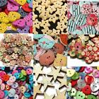 Mix Wooden Star Flower Resin Buttons Sewing Scrapbooking Cardmaking Craft 2 Hole