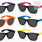SUNGLASSES UV400 POLARIZED WAYFARER 80s RETRO VINTAGE GEEK MENS LADIES NEW BLACK
