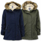 Ladies Fish Tail Parka Jackets Tokyo Laundry Coat Womens Hooded Sherpa Lined New