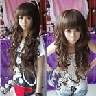 Women's Cosplay Lady Style Long Wigs Curly Girl Hair Full Wig Cap Fashion Free