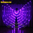 LED wings of isis belly dance club wear rainbow color solid color NEW