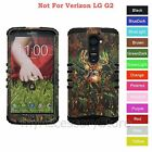 For LG G2 Hunting Deer Camo Camouflage Hybrid Rugged Impact Armor Case Cover