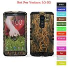 For LG G2 LS980 D800 D801 Dry Grass Camo RKR Hard&Rubber Rugged Phone Case Cover