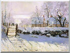 The Magpie Snow Effect Claude Monet Winter Painting Repro Stretched Giclee Art