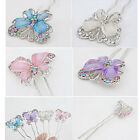 Ladies Love Alloy rhinestone resin material butterfly hair pins accessories USO#