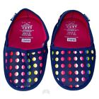 BUILT Fold and Go Travel Slippers Neoprene No Slip Mini Dot #9 Multi Color NEW
