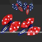 2x Hair Accessories Bowknot Polka Dot Clip Pin Slide For Girl Baby Children Gift