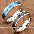 1pc Punk Stainless Steel Carved Roman Numeral Lover Couple Finger Ring Jewelry