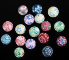 20 Pcs Hot  Mixed Color Polymer Clay Fimo Flower Round Loose Spacer Beads 10mm