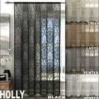 HOLLY ELEGANT DAMASK LACE CURTAIN VOILE PANEL ~ Many Colours & Sizes