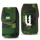 Holster Pouch With Metal Belt Clip For iPhone 4/4s/5/5s/5c Plastic Case On it