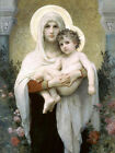 Madonna of the Roses William Bouguereau Virgin Jesus Christian Canvas Art Repro