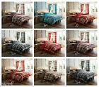 Designer Check Duvet Cover Set With Pillow Cases, Cotton Bed Linen Quilt Sets