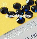GENUINE Swarovski Dark Indigo (288) Iron On ( Hotfix ) Glass Flatback Rhinestone