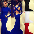 Hot Sexy Women Open-Back Prom Ball Cocktail Party Maxi Dress Formal Evening Gown