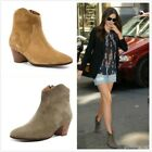 Womens Pointy Toe Roma Punk Vintage Flat Oxford Leather Riding Ankle Boots Shoes