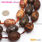 New Vintage Gamstone Brown Dzi  Tibet Agate Jewelry Making Loose Beads 15'