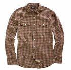 Double Ralph Lauren RRL Mens Red Navy Rancher Western Slim Fit Button Down Shirt
