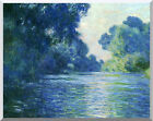 Claude Monet Stretched Canvas Art Branch of the Seine Near Giverny Repro Print