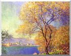 Claude Monet Stretched Canvas Art Antibes Seen from La Salis Repro Giclee Print