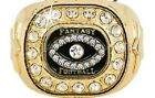 FANTASY FOOTBALL PREMIUM CHAMP 24K GOLD WINNERS RING 35 STONES SIZE 8 9 10 11 12