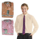 Edward Top Long Sleeve Boys Girls Kids Back to School Uniform Formal Smart Shirt