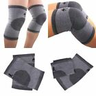 Gray Elasticated Bamboo Fiber Knee Patella Warm Support Arthritis Brace Bandage