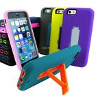 "For iPhone 6 4.7"" Plus 5.5 Tough Rugged Impact Hybrid Slim Hard Case Cover Stand"