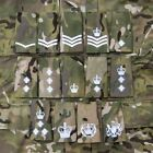 British Army Embroidery Multicam MTP White Rank Slides