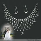 NEW 1set  Rhinestone Bridal Wedding Prom Necklace & Earrings Jewellery 6001