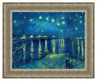 Vincent van Gogh The Starry Night over the Rhone Painting Repro Framed Fine Art