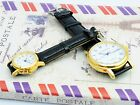 Elegant Fashion Pair Lover Gold White Dial Leather Band Mechanical Wrist Watch