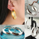 1Pair of Hoop Silver & Gold Plated Sleepers Earrings Solids Large Bid Statement