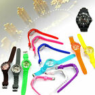 Hot Quartz Fashion Wrist Colors Jelly Analog Sports Gel Unisex Women Crystal New