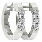 Appraisal I1/G 0.20Ct Round Cut Diamond Jewelry White Gold Hoop Huggies Earrings