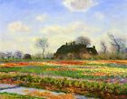 Tulip Fields at Sassenheim near Leyden Claude Monet Repro Canvas Fine Art Print