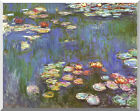 Claude Monet Stretched Water Lilies Painting Reproduction Canvas Fine Art Print