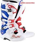 ALPINE STARS TECH 7 MOTOCROSS BOOTS WHITE/RED/BLUE  FREE DELIVERY