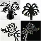 Acrylic Earring Ring Display Stands Trees Tables Home Shop Gift Black & Clear