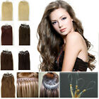 US Stock 100% 100s Micro Bead Ring Soft REMY Sexy Loop Human Hair Extensions