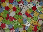 25/50/100 RESIN STAR BUTTONS # RED/GREEN/BLUE/YELLOW OR WHITE # 15MM 2 HOLE