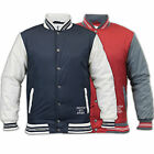 Mens American Baseball Style Jacket Soul Star Coat Varsity Lined Sports Casual