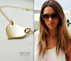 HOT Celebrity gold/silver heart Charm pendent Necklace Jewelry Women XMAS Gift