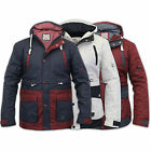 Mens Jacket Soul Star Coat Padded Hooded Casual Long Sleeved Lined Winter New