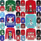 NEW KIDS CHILDREN FROZEN OLAF CHRISTMAS XMAS VINTAGE KNITTED JUMPER TOP 7-13