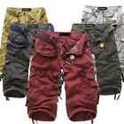 Men's multi-pocket overalls washed loose pant Cargo Pants Trousers Casual