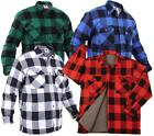 Extra Heavyweight Brawny Sherpa-Lined Flannel Jacket in Blue, Red or White Plaid